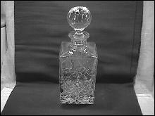 Rogaska Fine Crystal (Gallia) Square Whiskey Bottle
