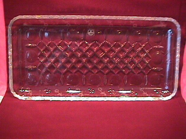 Rogaska Fine Crystal (Gallia) Serving/Dresser Tray