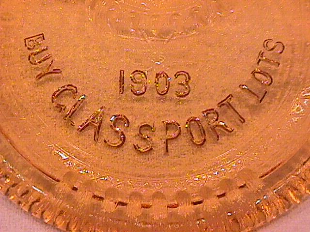 U. S. Glass Co., (Glassport Brave) Amber Tips Tray