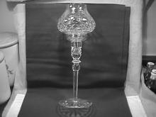 Rogaska Fine Crystal (Gallia) Hurricane Candlestick Lamp