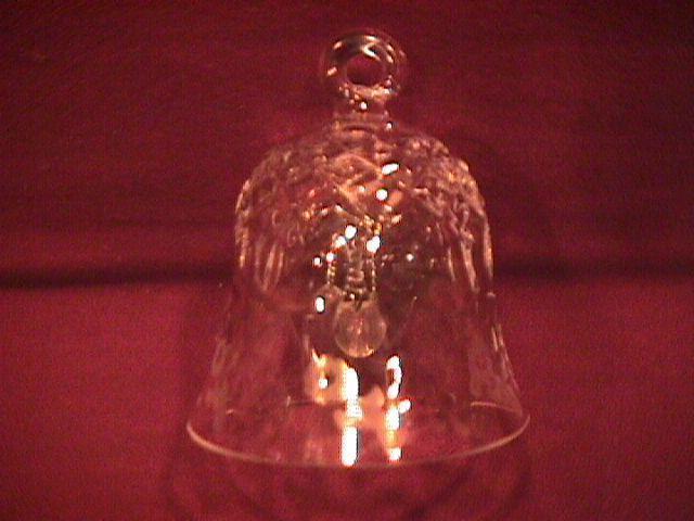 Rogaska Fine Crystal (Gallia) Christmas Ornament Bell