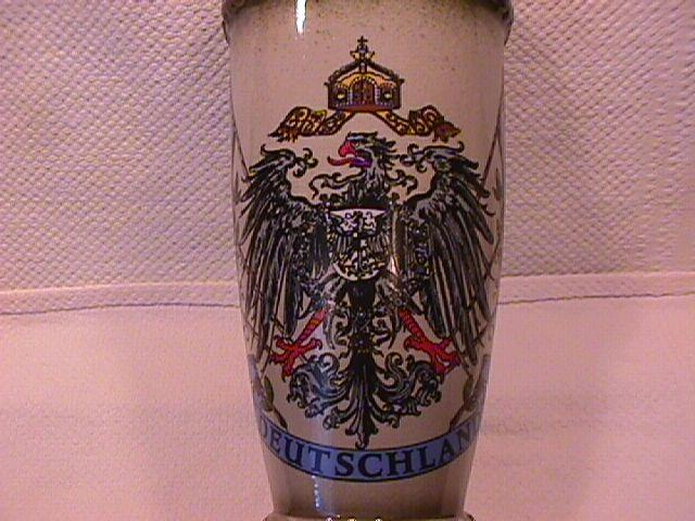 Deutschland Handarbeit Germany Coat of Arms Vase