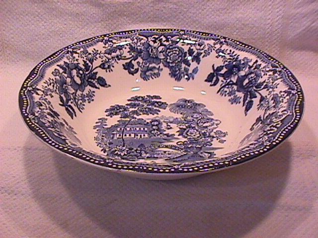 Royal Staffordshire-Clarice Cliff (Tonquin Blue) Round Vegetable Bowl