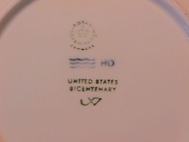 Royal Copenhagen Christmas Plate (United States Bicentenary)