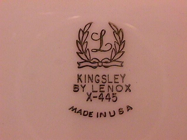 Lenox Fine China (Kingsley) Dinner Plate