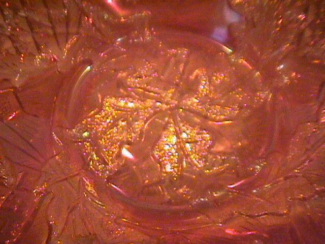 Millersburg Carnival Glass (Whirling Leaves) Bowl-Marigold