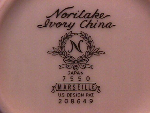 Noritake Fine China (Marseille)=#7550 Covered Sugar