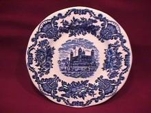 Wedgwood China (Royal Homes of Britain)-Blue  Cake Plate