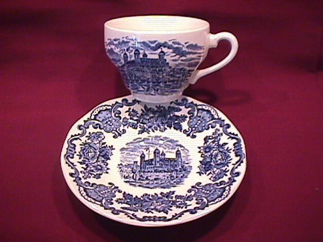 Wedgwood China (Royal Homes of Britain)-Blue  Cup & Saucer