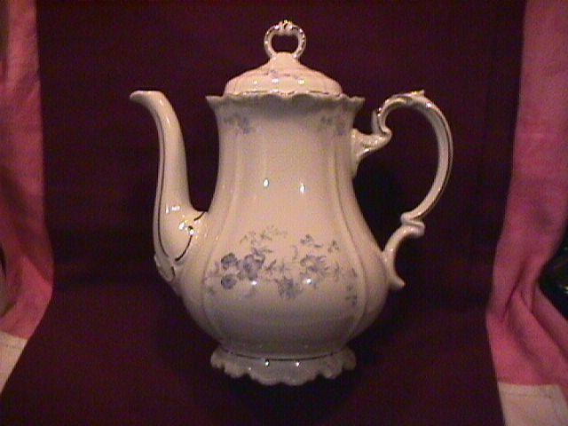 Edelstein Fine China (Ocean Blue) Covered Coffee Pot