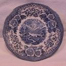 Royal Warwick China (Lochs of Scotland)-Blue Cake Plate