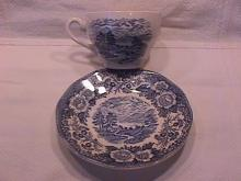 Royal Warwick China (Lochs of Scotland)-Blue Cup & Saucer
