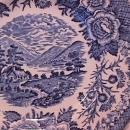 Royal Warwick China (Lochs of Scotland)-Blue Cup & Saucer