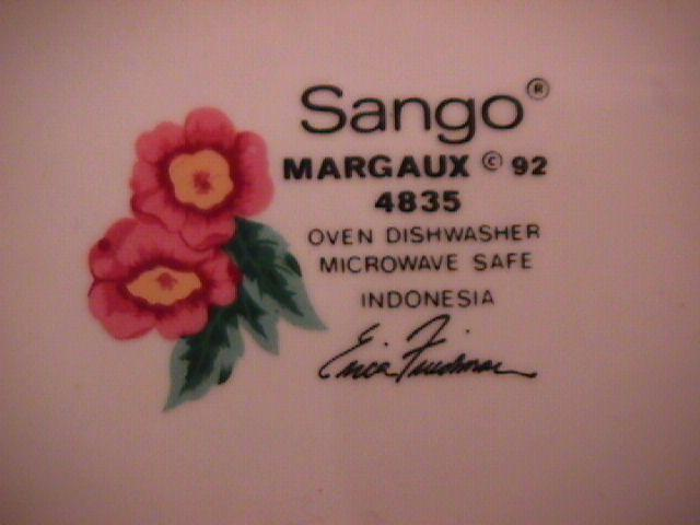 Sango Fine China (Margaux 92  #4835) Cup & Saucer