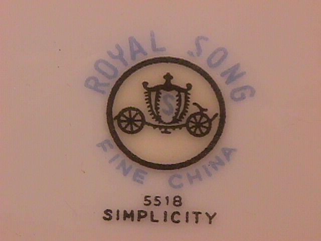 Royal Song Fine China (Simplicity) Dinner Plate