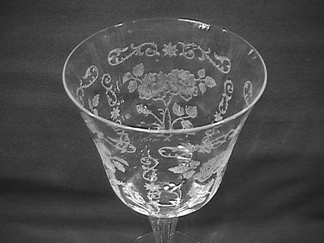 Fostoria Crystal (Midnight Rose)=#6009 Water Goblet