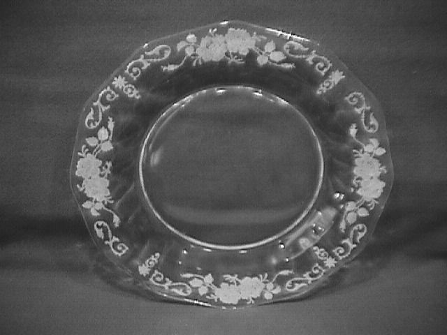 Fostoria Crystal (Midnight Rose)=#6009 Salad Plate