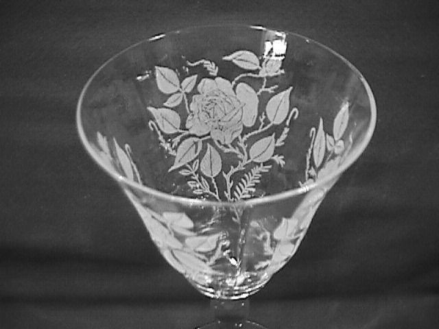 Morgantown Crystal (American Beauty)=#734 Goblet