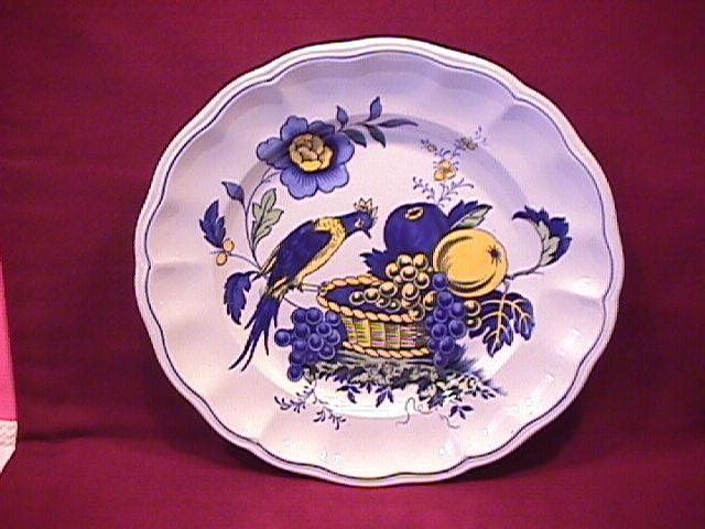 Spode China (Blue Bird)=#S-3274 Lunch Plate