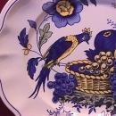 Spode China (Blue Bird)=#S-3274 Lunch Plate