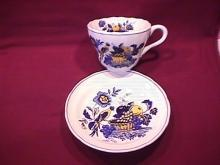 Spode China (Blue Bird)=#S-3274 Cup & Saucer
