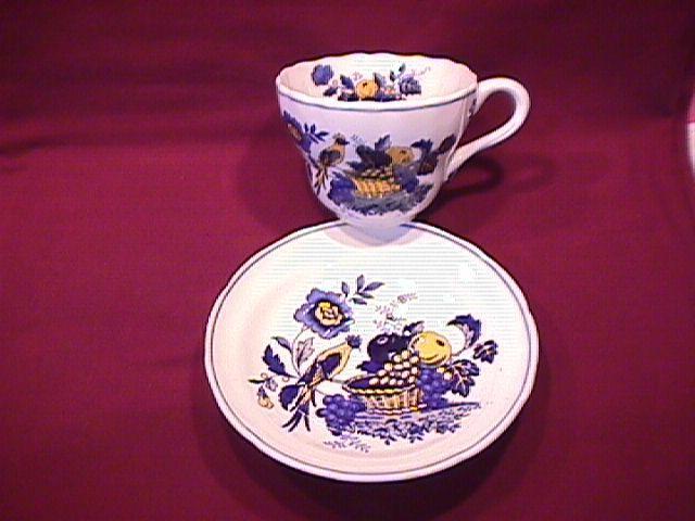Spode China (Blue Bird)=#S-3274 Cup & Saucer