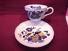 Spode China (Blue Bird)=#S-3274 Oversize Cup & Saucer