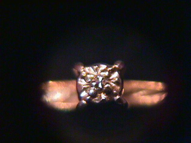 Antique Dainty 10K Gold & Diamond Ring