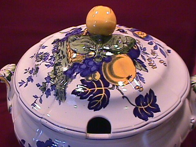 Spode China (Blue Bird)=S-3274 Covered Tureen
