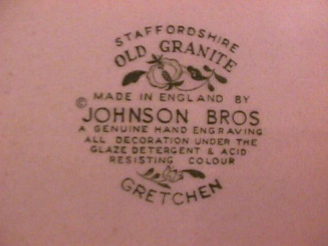 Johnson Brothers (Gretchen)=Green Creamer