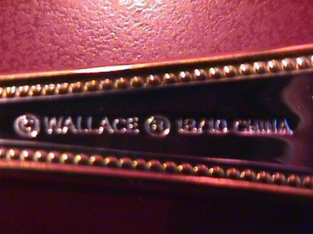Wallace Stainless (Classic Bead) 18/10-Gold Accented=Master Butter Knife