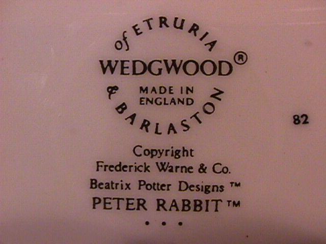 Wedgwood China-Beatrix Potter's (Peter Rabbit) Childs Plate
