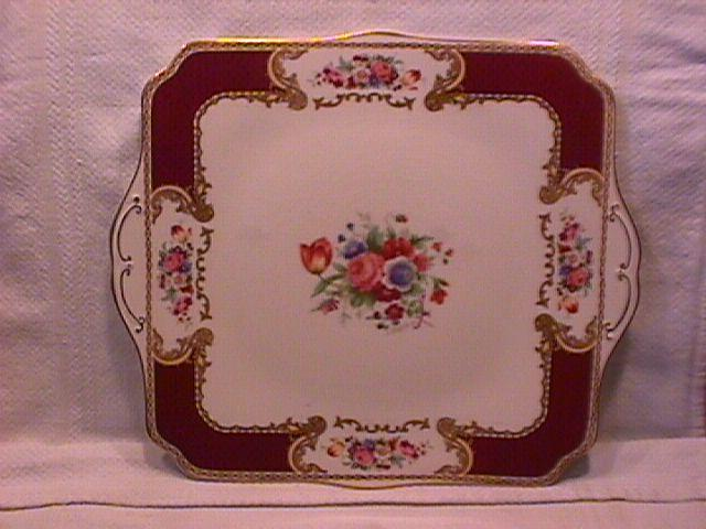 Myotts Royal Crown Handled Cake Plate