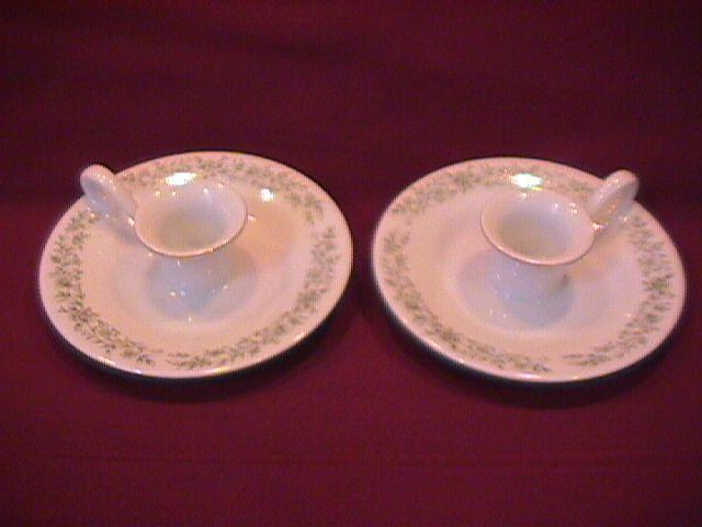 Mikasa Fine China (Montclair) Finger-Hole Candlesticks