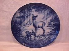 Royale Blue Winter China (Mothers Day 1971) Display Plate