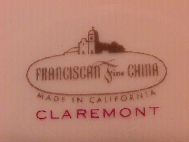 Franciscan Fine China (Claremont) Creamer