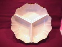 Lenox Fine Porcelain (Christmas Wreath) 3-Part Relish