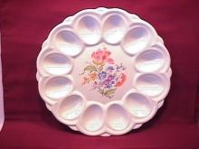 American Artware, E. R. China Deviled Egg Plate