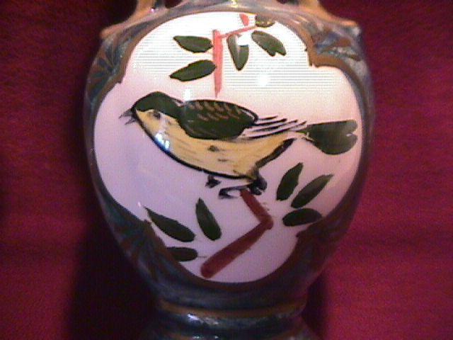 A. Fairyland, Japan= Pair of Hand-Painted Bird vases