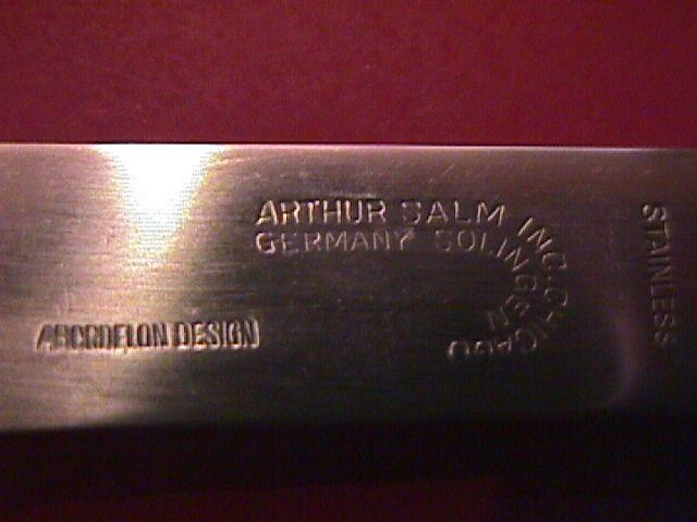 Arthur Salm, German Stainless ASF-8 (Abordelon Design) Dinner Fork