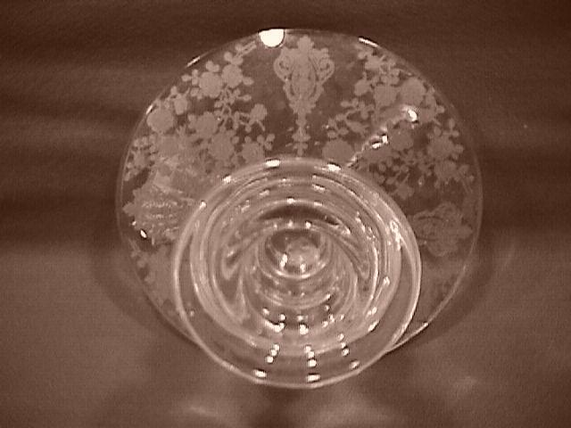 Cambridge Crystal (Rosepoint  #628) Single-Lite Candlestick