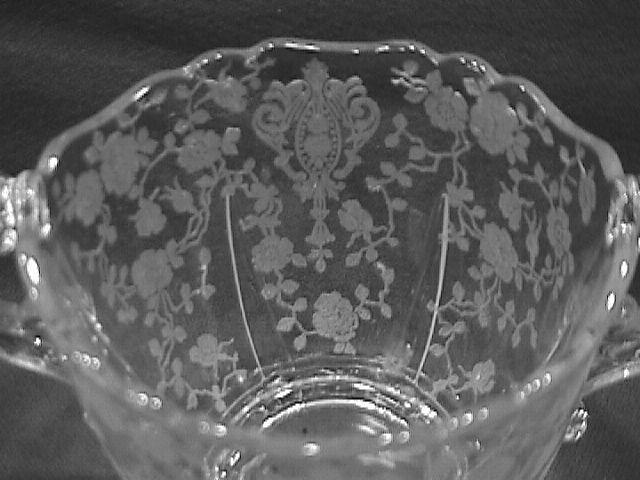 Cambridge Crystal (Rosepoint  #3400-68) Open Sugar