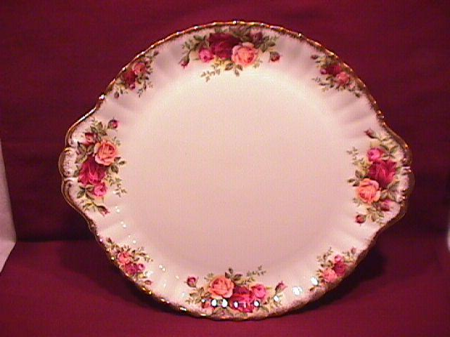 Royal Albert (Old Country Roses) Handled Cake Plate