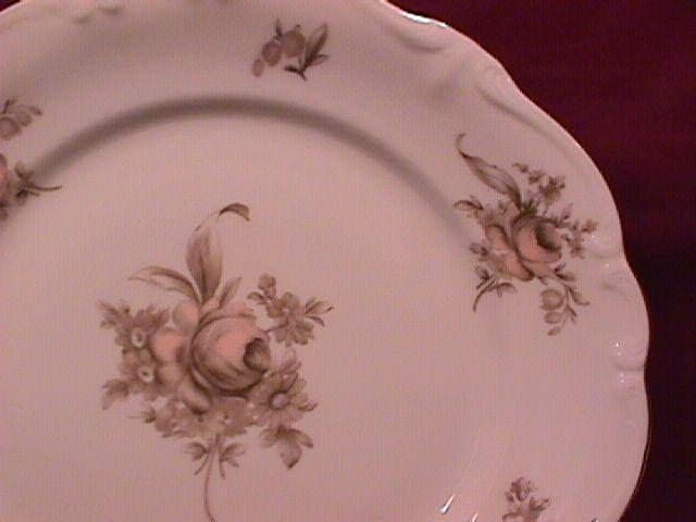 Johann Haviland Fine China (Sepia Rose) Dinner Plate