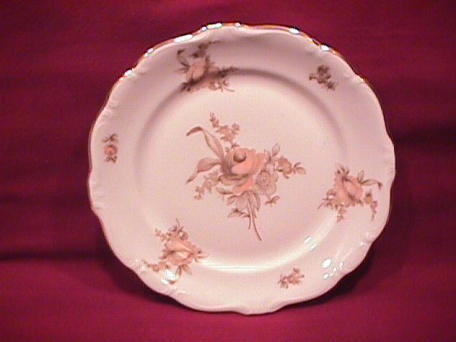 Johann Haviland Fine China (Sepia Rose) Salad Plate