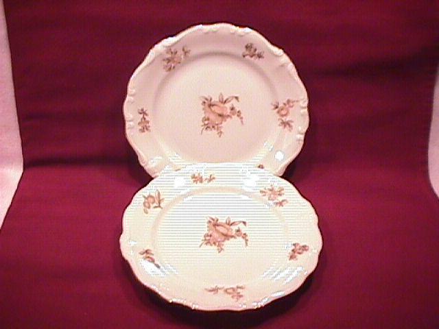 Johann Haviland Fine China (Sepia Rose) 2-Cake Plates