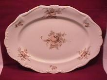 Johann Haviland Fine China (Sepia Rose) Ham Platter