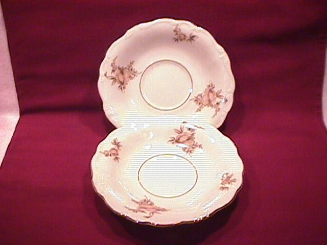 Johann Haviland Fine China (Sepia Rose) 2-Saucers Only