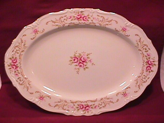 Style House China (Rose Baroque) Roast Platter