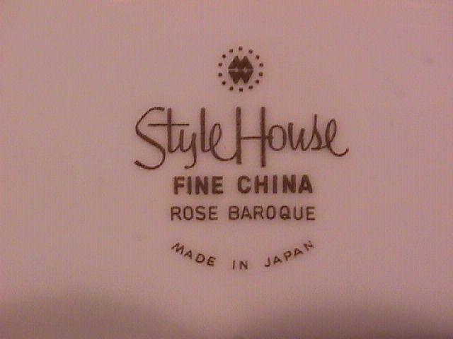 Style House China (Rose Baroque) Roast Platter